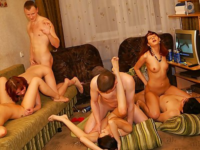 Spectacular and hot student party sex video